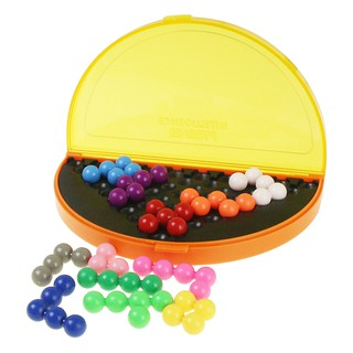 [Ready Stock] Classic Pyramid Beads Plate IQ Pearl Logical Mind Game Puzzle Brain Teaser Educational Toys for Children