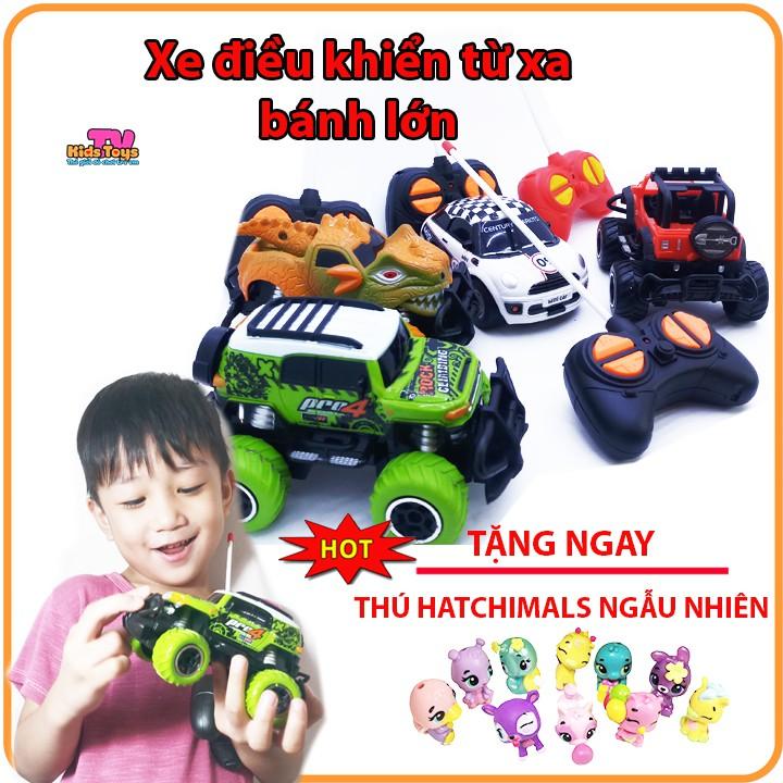 ( XẢ KHO KÈM QUÀ TẶNG ) Đồ chơi xe địa hình điều khiển từ xa bánh lớn mini car kidstoys tv