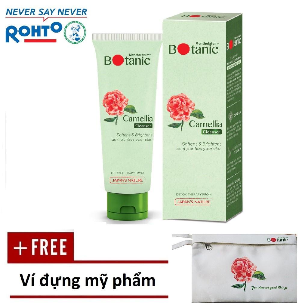Gel rửa mặt chiết xuất Camellia Mentholatum Botanic Cleanser 80g