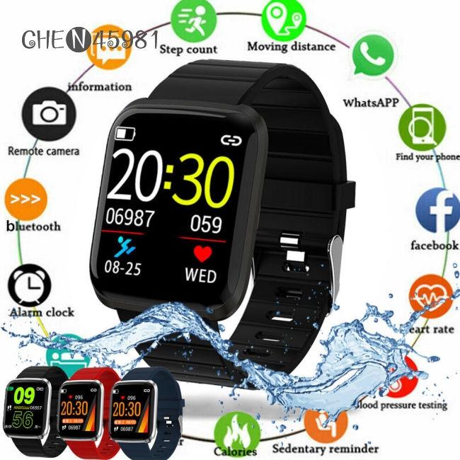 HD Color Screen 116pro Smart Watch Bracelet Wristband Fitness Tracker Blood Pressure Heart Rate - 22687898 , 4800761847 , 322_4800761847 , 291000 , HD-Color-Screen-116pro-Smart-Watch-Bracelet-Wristband-Fitness-Tracker-Blood-Pressure-Heart-Rate-322_4800761847 , shopee.vn , HD Color Screen 116pro Smart Watch Bracelet Wristband Fitness Tracker Blood