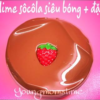 Slime sôcôla siêu bóng +đặc ( có kèm charm)