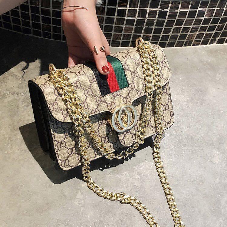 Túi Xách Nữ DCG Size 23 hàng Quảng Châu siêu đẹp - Túi Đeo Chéo Nữ khóa đồng da mềm dập vân ( kèm video và ảnh thật )