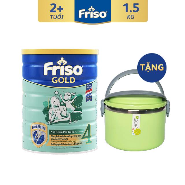 [Tặng Bộ Hộp Cơm Giữ Nhiệt] Sữa Bột FRISO GOLD 4 1500g