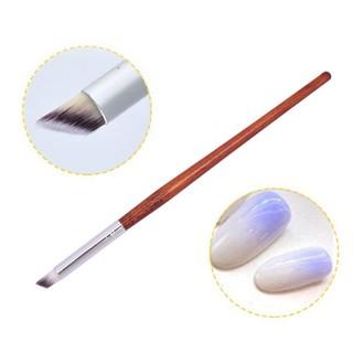 Cọ ombre cán gỗ cao cấp (cọ đầu tròn, bản xéo - cọ dẹp) dặm móng, vẽ nail  chuyên nghiệp   Dụng cụ làm móng   InnisfreeShop.Vn