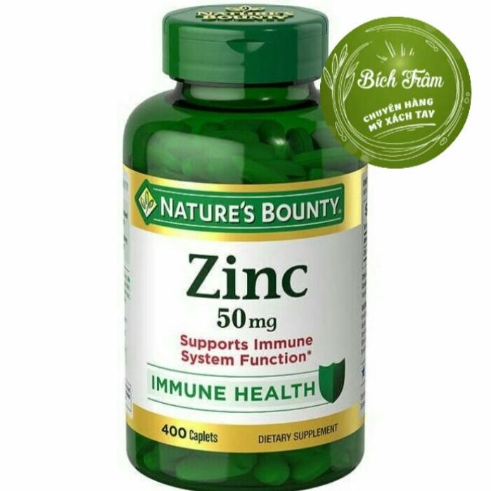 Viên uống bổ sung kẽm NATURE'S BOUNTY ZINC
