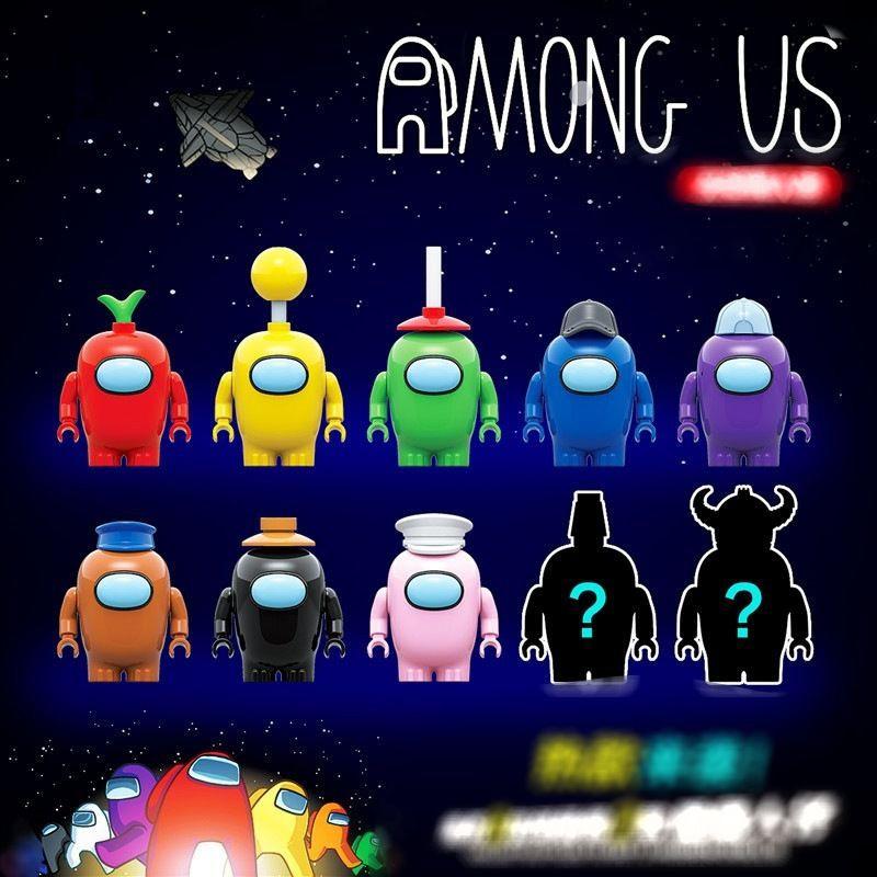 Non Lego – COMBO 8Minifigures + 2Minifigures Ngẫu Nhiên Among Us