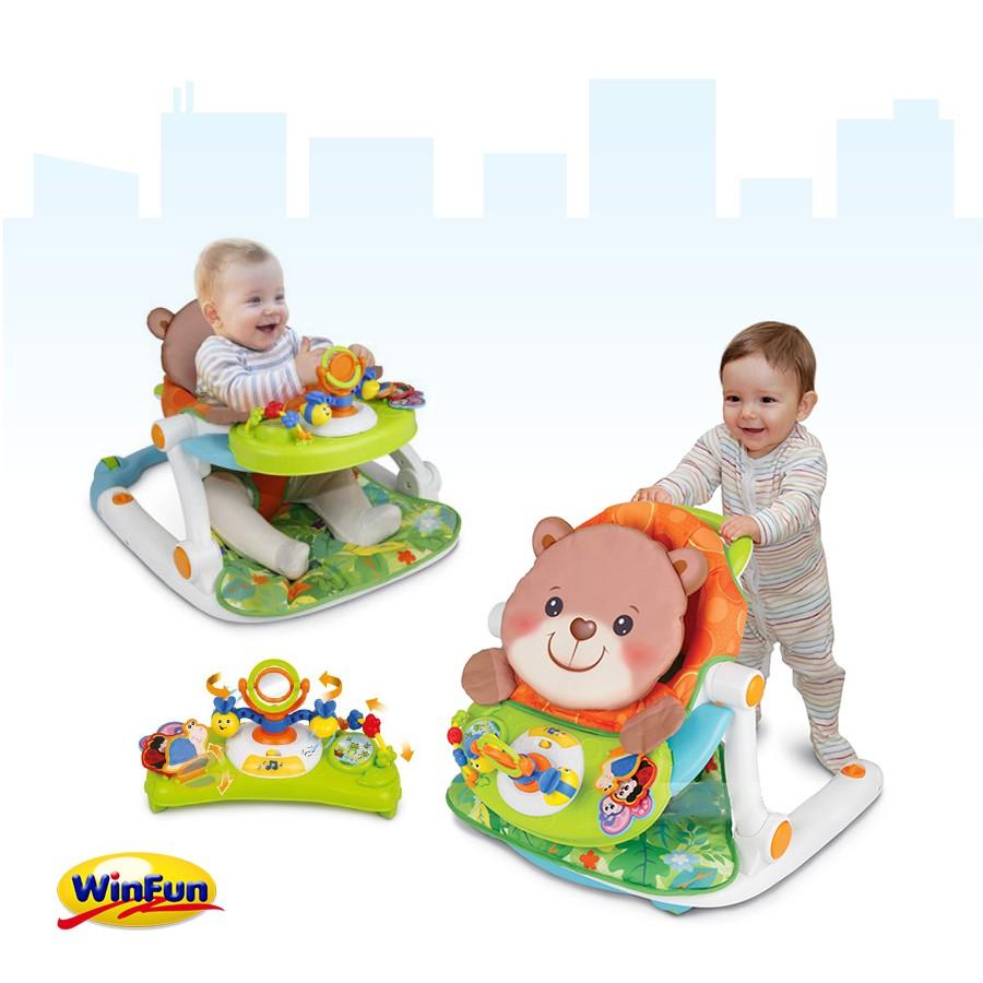 Xe tập đi kết hợp ghế ngồi chơi Winfun 0859