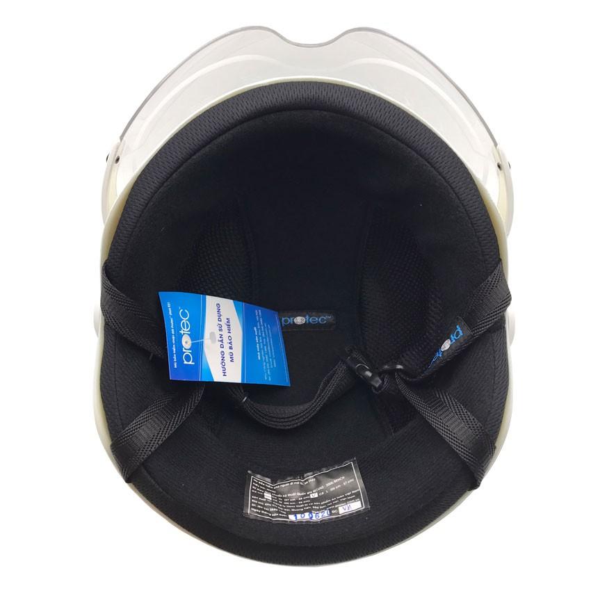 Mũ bảo hiểm 1/2 đầu có kính cao cấp Protec Hiway, mẫu mới, an toàn, thời trang