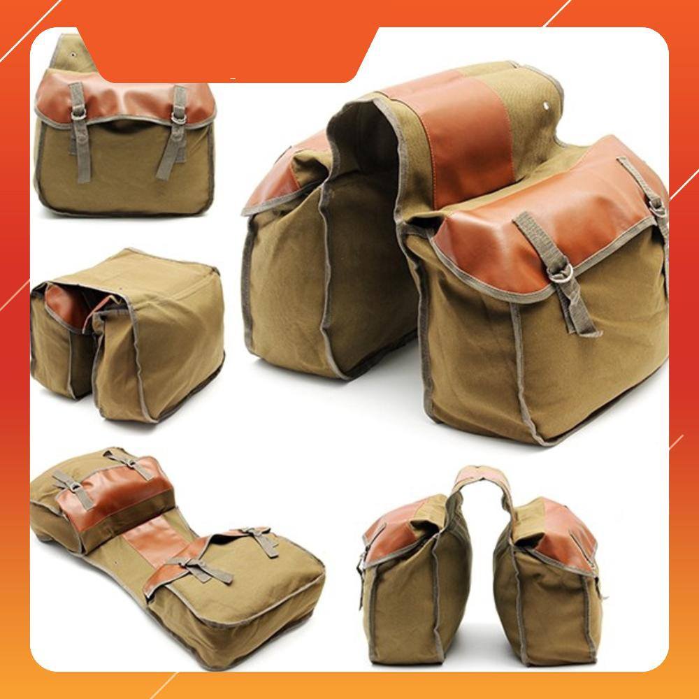 Túi treo xe máy , xe đạp , chất liệu vải bố