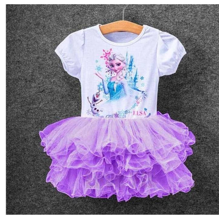 Váy xòe công chúa elsa ⚡FREESHIP⚡Váy công chúa nhiều tầng hàng Quảng Châu đẹp, cho bé đến 8 tuổi