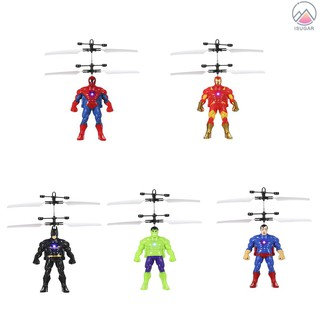 Cool Flying Cartoon Figure based Electric Ball Helicopter Infrared Induction Toy Drone Lamp Children