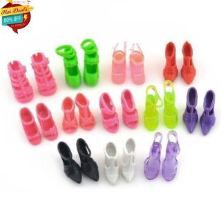 E-TING 10 Pairs/Lot Fashion Mini Shoes doll Doll accessories Random Style