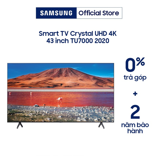 [Nhập ELSAM30 giảm 5% đơn 5TR] Smart Tivi 4K UHD Samsung 43 inch UA43TU7000KXXV