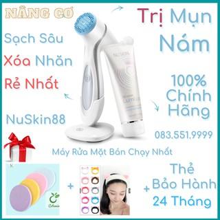 Yêu Thích(Hàng Công ty- Có Bảo Hành) Máy Rửa Mặt LumiSpa Nuskin + Sữa rửa mặt BẢO HÀNH 2 NĂM