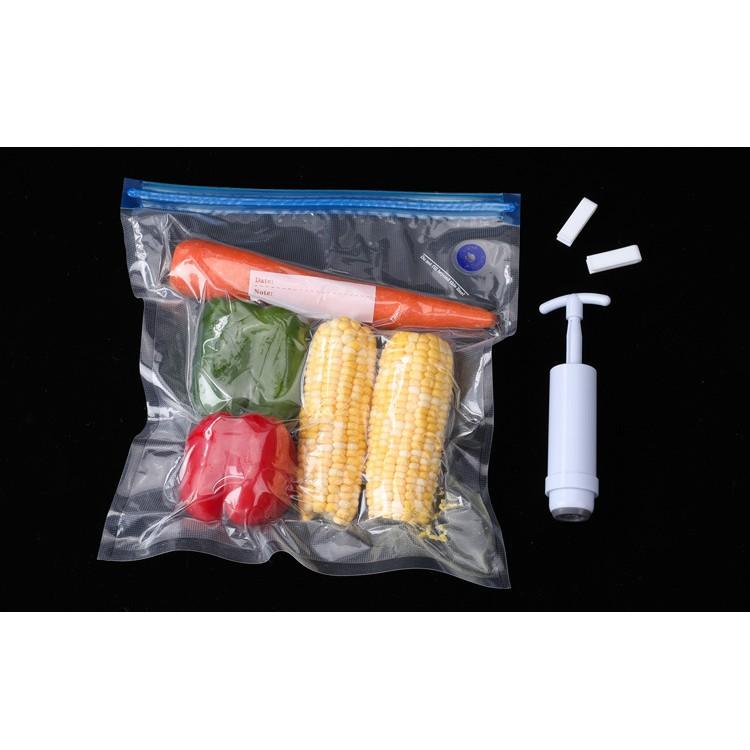 Túi Hút Chân Không Đựng Thực Phẩm - Tái Sử Dụng Giúp Bảo Quản Thực Phẩm, Đồ Ăn Trong Tủ Lạnh Tươi Ngon