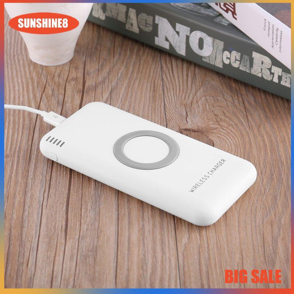 Pin sạc dự phòng 8000mAh có đồ sạc không dây hai cổng USB B100