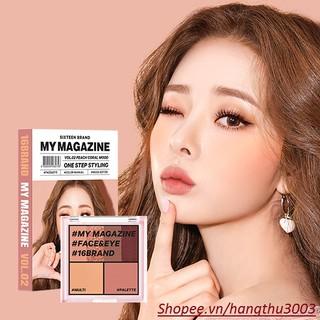 [Best Seller] Bảng Phấn Mắt Má Hồng Tạo Khối Đa Chức Năng 16 Brand My Magazine One Step Styling thumbnail