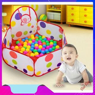 [Giá Hủy Diệt] Lều banh lều bóng đồ chơi vận động cho trẻ em giá rẻ an toàn kèm bóng đồ chơi cho bé