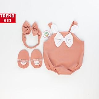 [Mã TREND20 giảm 15% đơn 99K] Sét đồ Jumpsuit cho bé gái, trẻ sơ sinh màu hồng Michley