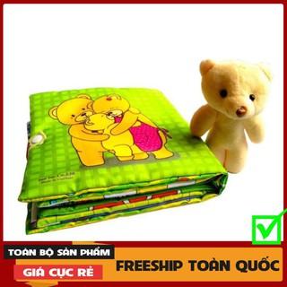 """[FREESHIP-EXTRA] Sách vải cho bé """"Một ngày của Gấu Boo""""Giúp Bé rèn luyện thói quen Sinh Hoạt-Kích thích Thị Giác"""