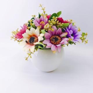 Chậu hoa cúc ReTro Cắm Sẵn