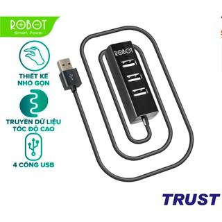Bộ chia USB HUB 4 cổng ROBOT H140-80 dài 80cm , đa năng truyền dữ liệu tốc độ cao ổn định - HÀNG CHÍNH HÃNG