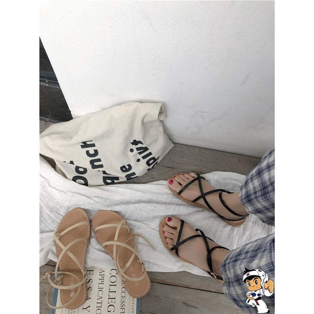 giày sandals nữ cột dây xinh xắn