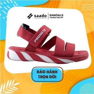 Giày Dép Sandal SAADO - SP05 - Đỏ Trắng