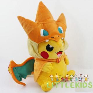 ♛✐✽Pokemon Pikachu Avec Charizard chapeau Peluche rembourré Animal Poupée 22.9cm