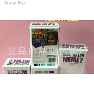 【Crazybuy】WHAT DO YOU MEME Card Poker Popular Board Playing Games brand new