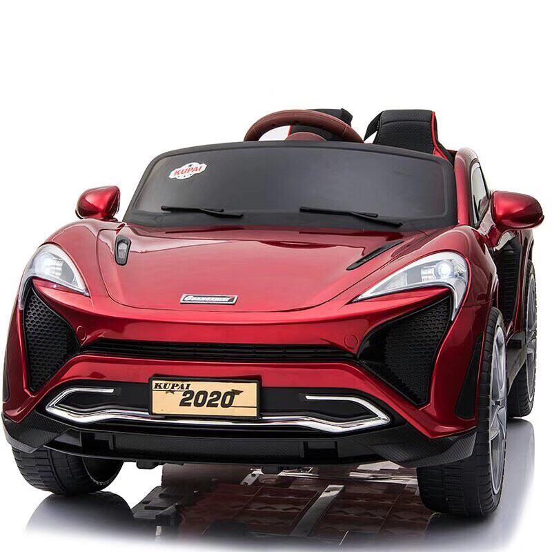 Ô tô xe điện đồ chơi cho bé KUPAI-2020 tự lái và điều khiển 4 động cơ 12V7AH (Đỏ-Cam-Trắng)