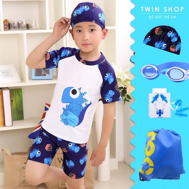 Đồ Bơi Bé Trai Twin Hình Khủng Long Combo Gồm 6 Món - TWB003