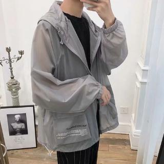 Summer sunscreen clothing for boys and girls ultra-thin breathable jk jacket loose casual wild handsome couple tooling