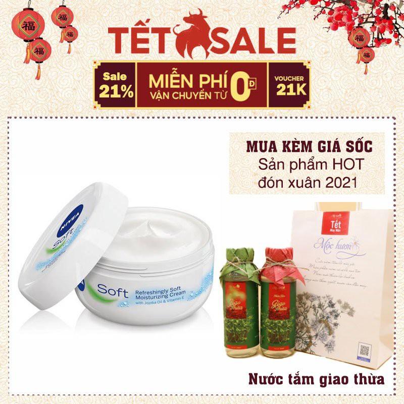 Kem Nẻ NIVEA SOFT - Kem dưỡng ẩm toàn thân chứa Vitamin E chuyên dưỡng ẩm, dưỡng trắng chuyên sâu[chuẩn Đức