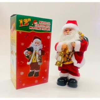 Đồ chơi ông già noel cầm đèn túi quà chuông quà tặng giáng sinh