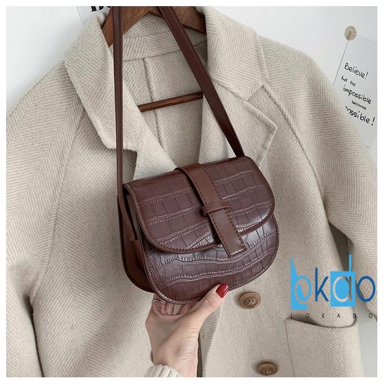 Túi xách đeo chéo nữ LOKADO túi nữ đeo chéo thời trang cao cấp-Hy038