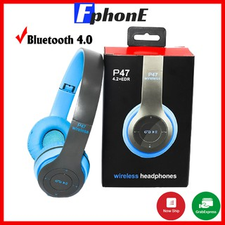 [Mã ELFLASH5 giảm 20K đơn 50K] Tai Nghe Chụp Tai Bluetooth P47 - Có Khe Cắm Thẻ Nhớ - Âm Thanh Đỉnh Cao