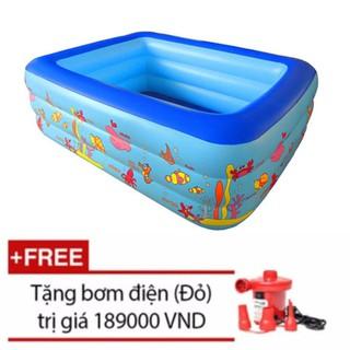 Bể bơi Summer Baby 150*110*50CM 3 tầng tặng bơm điện 2 chiều