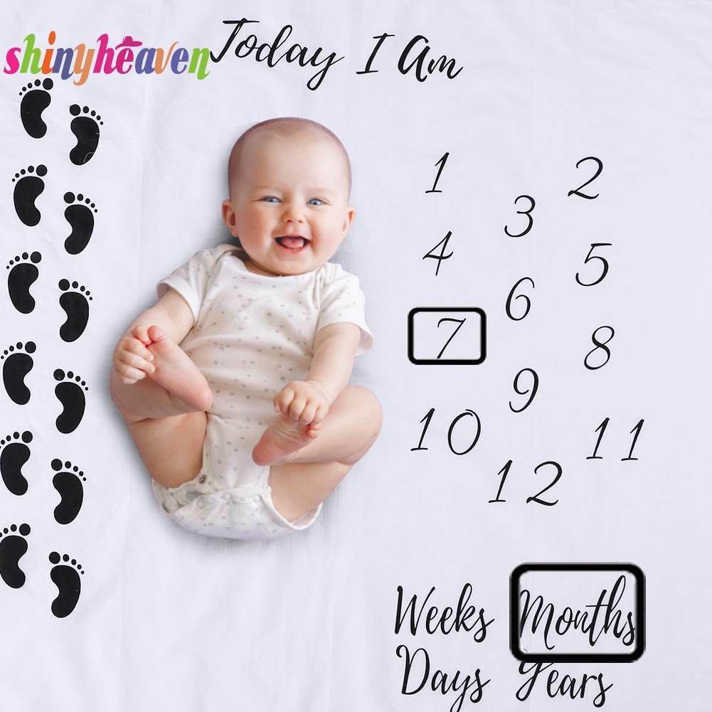 【Yuiiki】Feet Printed Newborn Lovely Baby Photography Prop Blankets