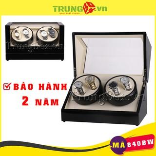 Hộp Đựng Đồng Hồ Cơ 4 Xoay Vỏ Gỗ Sơn Mài - Mã 840BW SAIKE [BH 2 NĂM] thumbnail