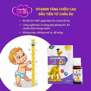 🍓🍓 Vitamin D3-K2 lineabon tăng cường hấp thụ canxi tối đa! – 10ml