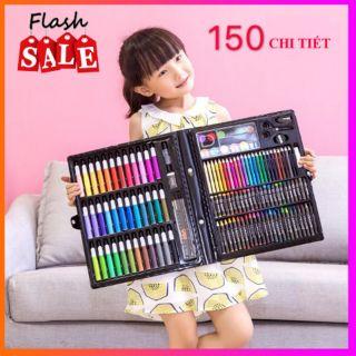 Bộ bút màu 150 chi tiết cho bé tô vẽ thỏa thích thumbnail
