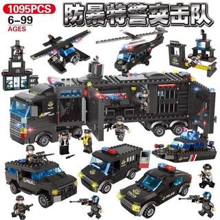 Bộ đồ chơi xếp hình đội đặc nhiệm bảo vệ thành phố 1095 chi tiết