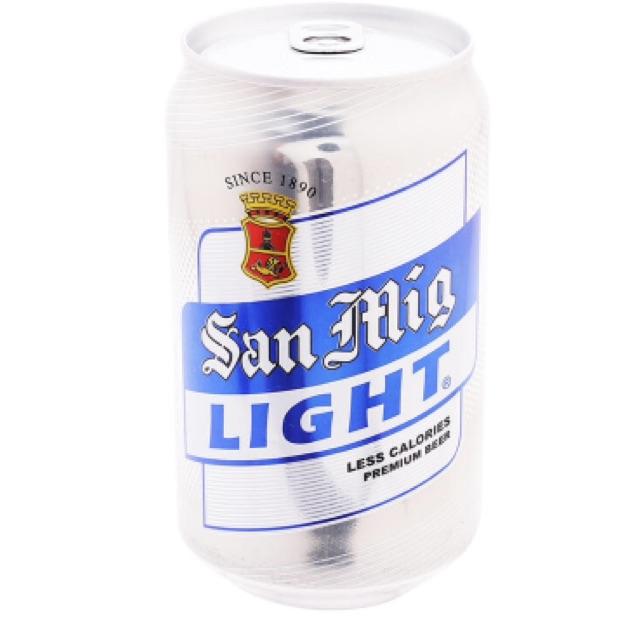 Bia San Miguel Light less calories lon 330ml