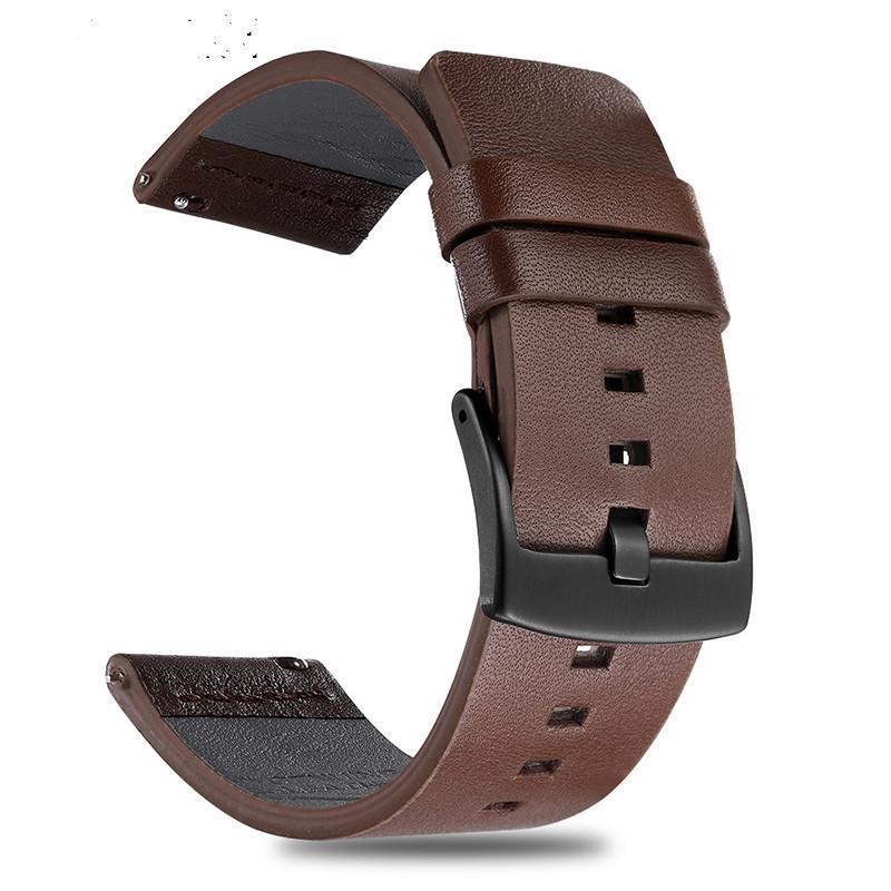 Dây Đeo Bằng Da Thật Cho Đồng Hồ Thông Minh Samsung Galaxy Gear S3 (18 20 22 24mm)