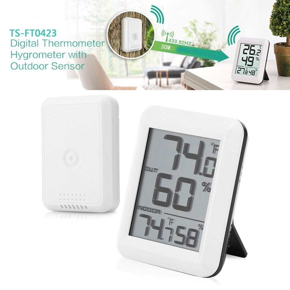 Hygrometer Home Office Weather Multifunctional Wireless Accurate Digital Hygrothermograph Thermometer LCD Display