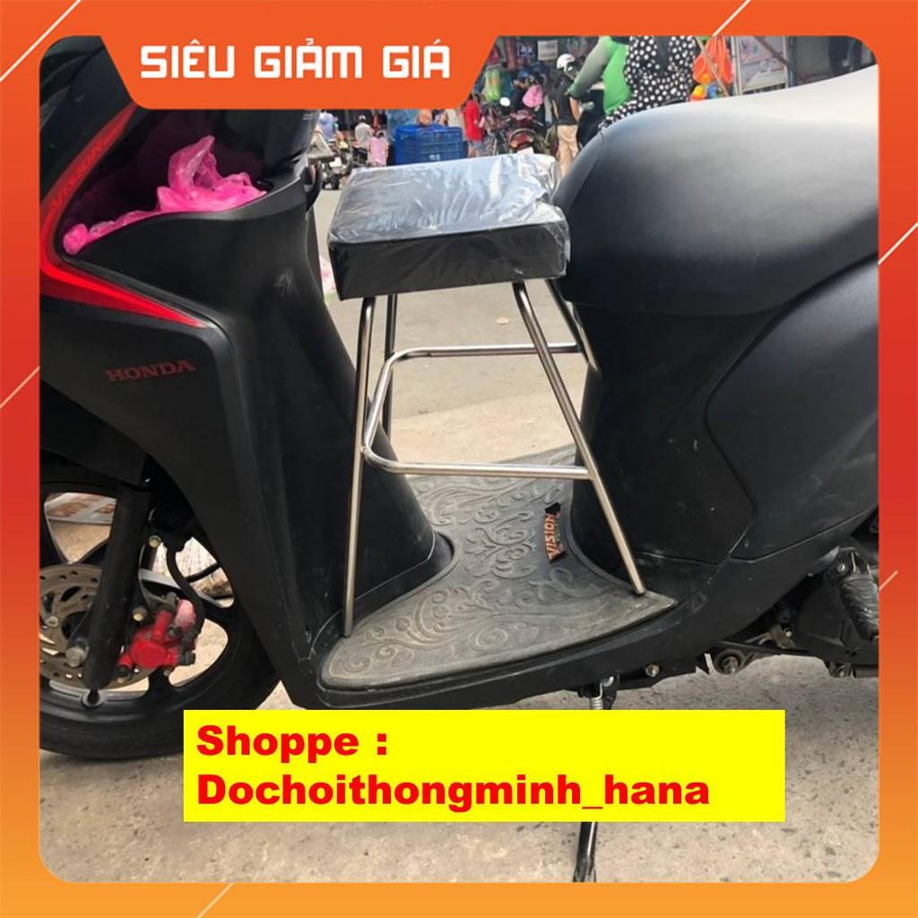 Ghế ngồi xe máy cho bé 💖 SỈ= LẺ 💖 Xe Tay Ga Yên Nệm, Không Tựa,,An Toàn Cho Bé