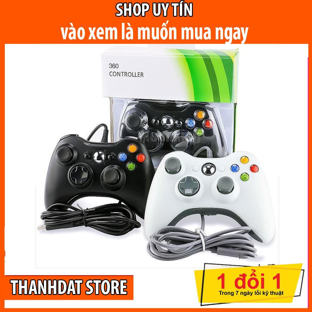 Tay cầm chơi game Xbox 360 – Có đầu cắm USB hỗ trợ PC, Laptop – Hàng chính hãng