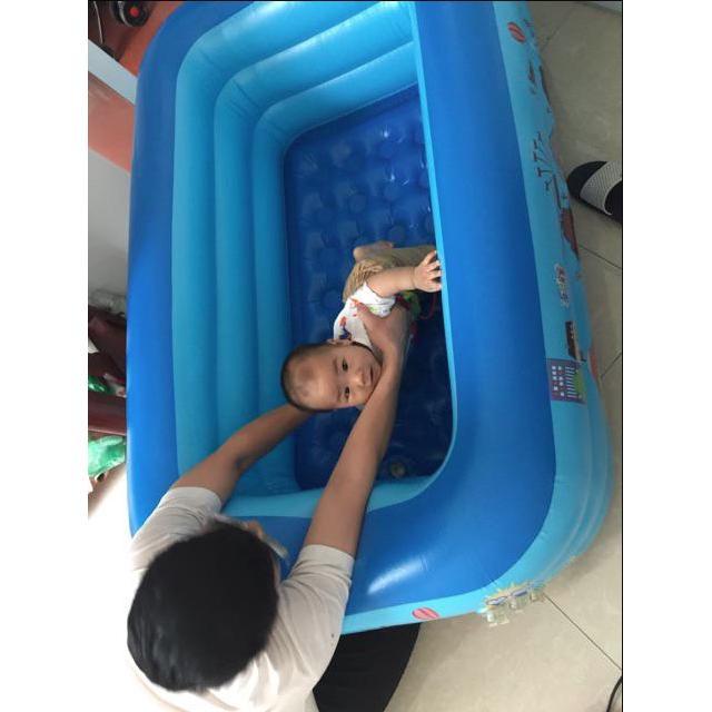 [Ảnh tự chụp] Bể bơi 3 tầng 1m5 chỉ bán bể loại 1
