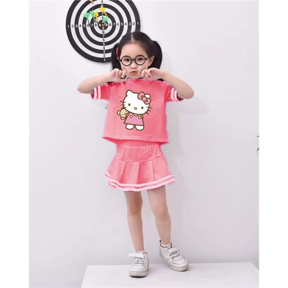 [HÀNG CỰC CHẤT] Bộ áo váy siêu xinh cho bé gái từ 10-20 kg, chất 100% cotton mịn đẹp, vô cùng đáng yêu cho bé